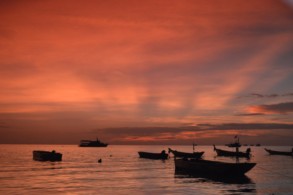 Having fun with the camera - longtail boats on Koh Tao
