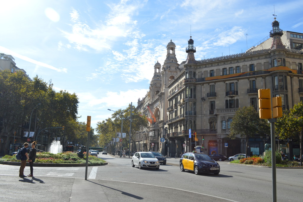 Exploring Barcelona by foot