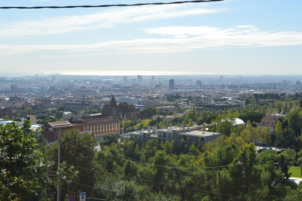 View from the funicular train