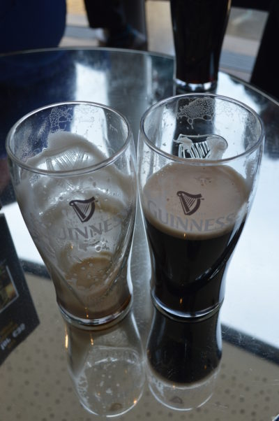 Comparing how much we like Guinness!