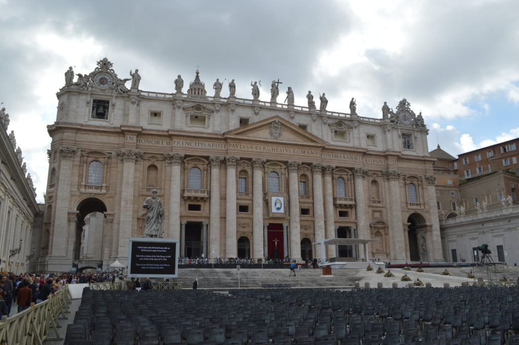 Front of St Peter's Basilica