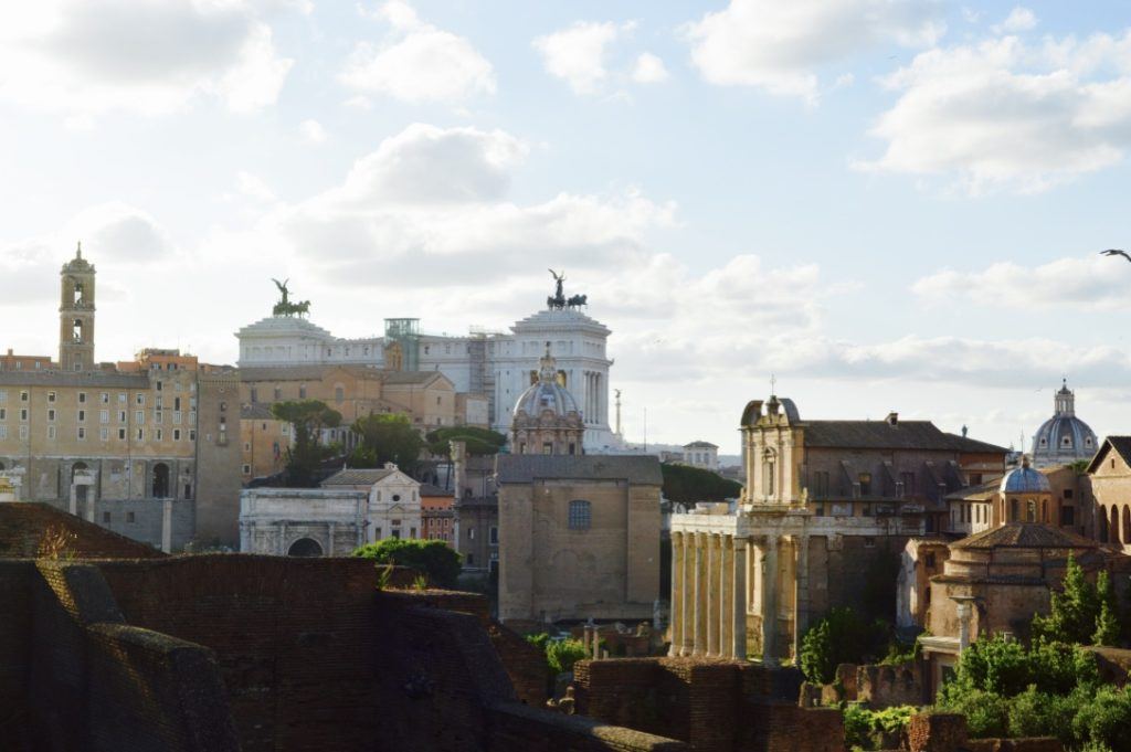 View of Rome from Palatine hill